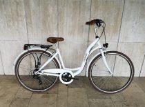 """Toldi női városi kerékpár - 1 sebességes kontrás - 26"""" - Fehér színben"""