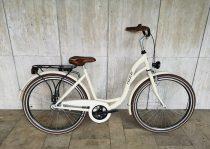 """Toldi női városi kerékpár - 1 sebességes kontrás - 26"""" - Krém színben"""