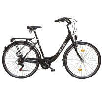 """Koliken Feliz női városi kerékpár - ALU vázas - 28"""" - Fekete - 6 sebességes"""
