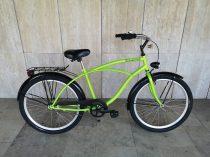 Toldi Cruiser - Férfi cruiser kerékpár - 3 sebességes agyváltós - kontrás bicikli - Neon zöld színben